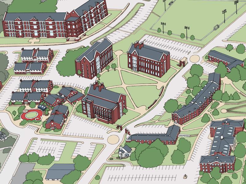 Apsu Campus Map APSU Campus Map by Holly Carden | Dribbble | Dribbble