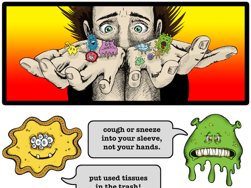 Stop The Spread Of Germs Poster By Holly Carden Dribbble