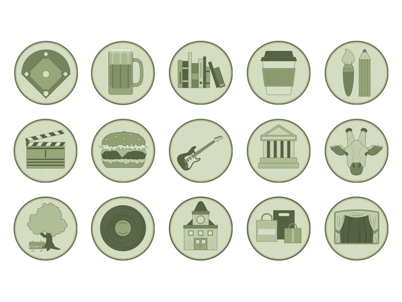 Icon Set for a Map Key illustration vector icon map