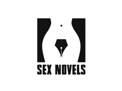 Sex Novels body shape nude sex design logo feminism writer pen woman