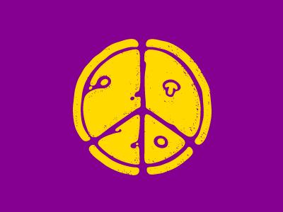 2020 new year 2020 peace pizza logo