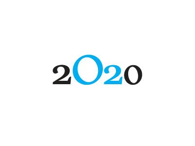 2020 new year ecological ecology oxygen o2 2020 logo