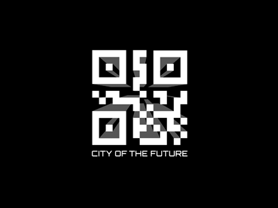 Construction company future city qrcode building conctruction