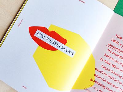 Editorial Design / Pop Art exhibition movement wesselmann tom lips colors graphic design art pop exhibition cataloge