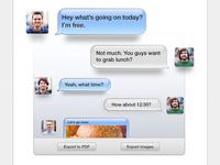 iOS Style SMS Thread