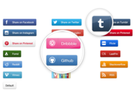 Pure CSS & SVG Social Buttons