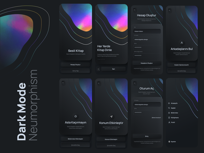 Audiobook App - Neumorphism style clean ux ui typography neumorphism illustration design bookshelf book audiobook app