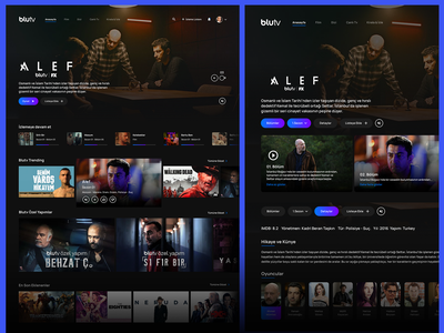BluTv - UX Research and Conceptual Design ux ui uiux redesign movie app design concept clean blutv