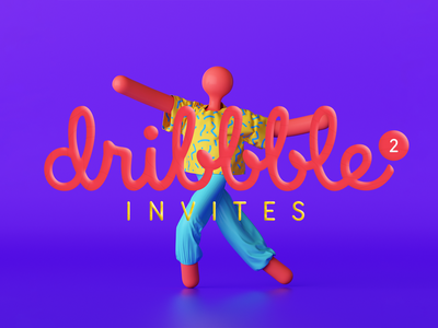 2 Dribbble Invitations invitation best shot portfolio invitations invite invite giveaway dribbble new