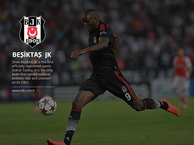 Beşiktaş Sports Club beşiktaş bjk sport club football website ui flat