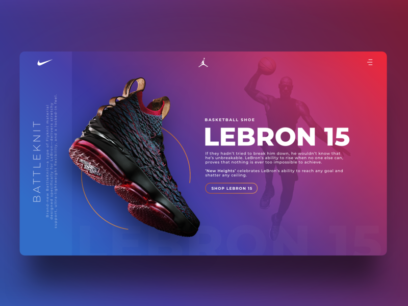 the latest 0b98a 428e3 Nike LeBron 15 - Landing page by Atakan Kalkan on Dribbble