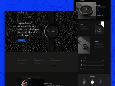 GREYHOURS watch design watch ux ui clean typography website concept design greyhours