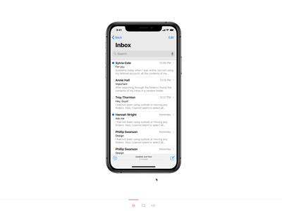 New Multitasking - Finder for iPhone X Concept ios iphone x ux ui studio prototype multitasking multitask iphonexs iphone invision studio invisionstudio invisionapp invision interaction design interaction files concept app animation
