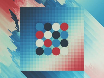 Faces and edges. abstract gradients photoshop waves distortion pixel geometric