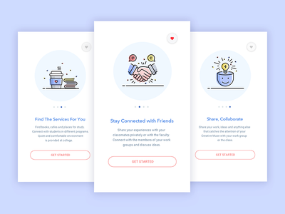 Onboarding Illustrations onboarding illustration flat education ios android school onboard college
