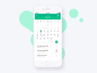 Mobile calendar app