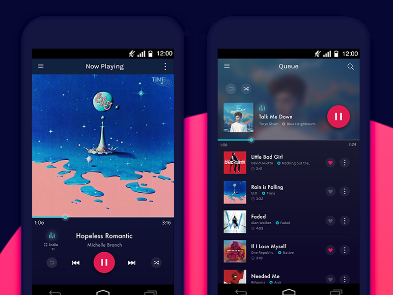 Tunite Music App music player albums android mobile app music