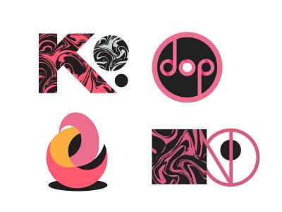 Abstract Logotypes and Shapes vector sketch minimal logodesign logotype logo illustration icon flat drawing character art