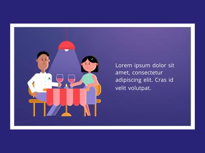 Professional - Restaurant template cheers date dinner restaurant couple characterdesign 2danimation characteranimation character loop animation