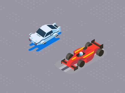 Isometric cars