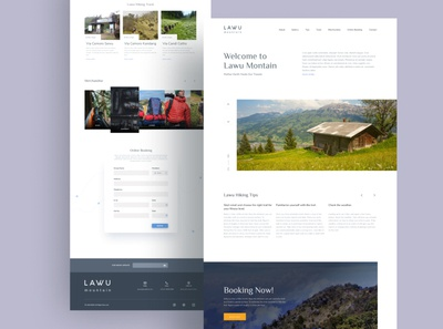 Lawu Mountain Landing Page clean design landing page landing webdesign web haiking montain indonesia flat clean design uiux ui
