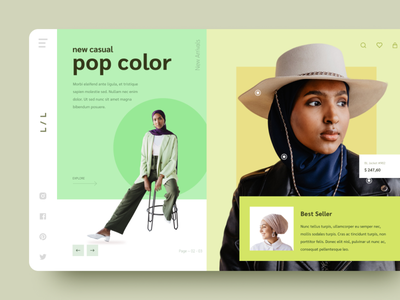 #Exploration - Hero Section for Fashion Site hero fashion landing page exploration ux branding indonesia flat design clean uiux ui