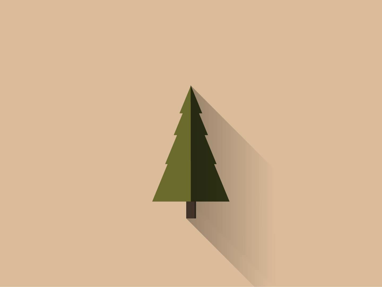 Tree Art illustrator flat flat  design tree vector illustration design