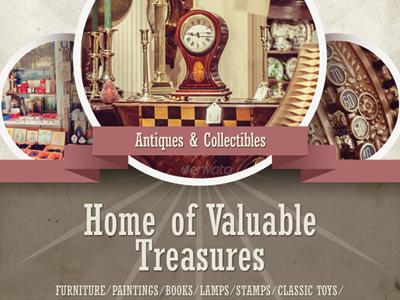 antique store flyer templates by kinzi wij dribbble dribbble