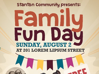 Family Fun Day Flyers Vol 02 By Kinzi Wij Dribbble