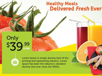 Healthy Food Flyer Templates By Kinzi Wij Dribbble