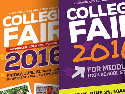 College Fair Flyer Templates by Kinzi Wij - Dribbble