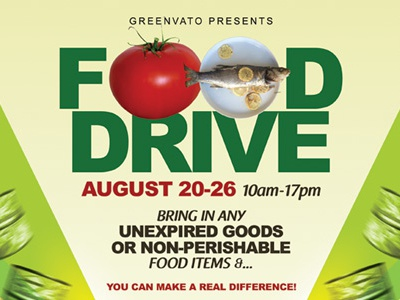 food drive flyer templates by kinzi wij dribbble dribbble