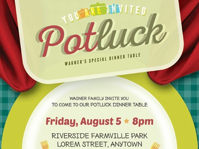 Potluck Event Flyer Template By Kinzi Wij Dribbble