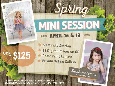 mini photo session flyer templates by kinzi wij dribbble dribbble