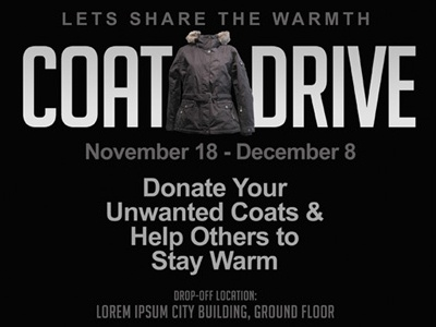 coat drive flyer templates by kinzi wij dribbble