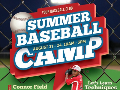 Baseball Camp Flyer Templates By Kinzi Wij  Dribbble