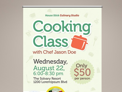 Cooking Class Roll Up Banner Templates By Kinzi Wij On Dribbble