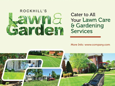 Lawn Landscaping Flyer Templates By Kinzi Wij Dribbble - Landscaping flyer templates