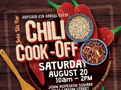 Chili Cook Off Flyer Template By Kinzi Wij Dribbble