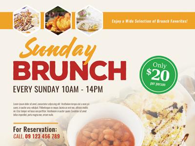 sunday brunch flyer templates by kinzi wij dribbble dribbble