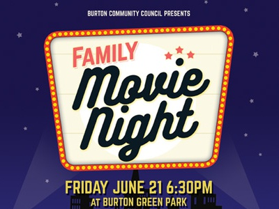 158 Graphic River Movie Night Flyer Templates Kinzi21