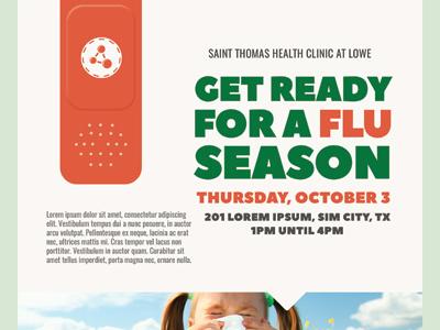 Health Fair Flyer Template Vaccine Dolapgnetband