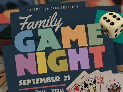 Game Night Flyer Templates by Kinzi Wij - Dribbble