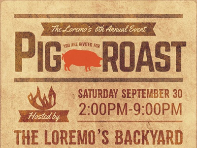 Pig Roast Flyer Templates By Kinzi Wij Dribbble