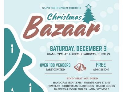 christmas bazaar flyer templates by kinzi wij dribbble dribbble