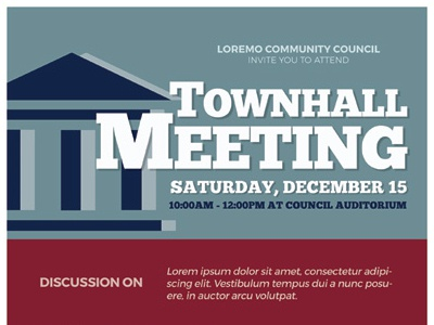 Town Hall Meeting Flyer Templates By Kinzi Wij Dribbble Dribbble