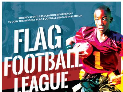 flag football flyer templates by kinzi wij dribbble dribbble