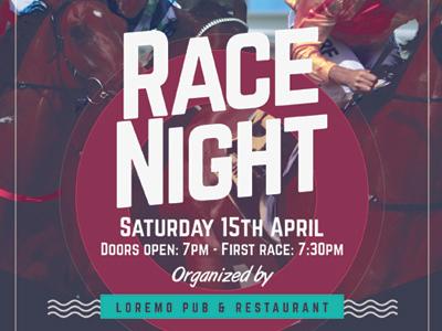 Race Night Flyer Templates