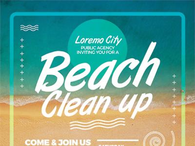 beach clean up flyer templates by kinzi wij dribbble dribbble