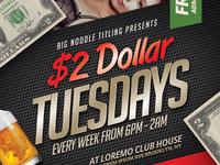 2 Dollar Tuesdays Flyer Templates